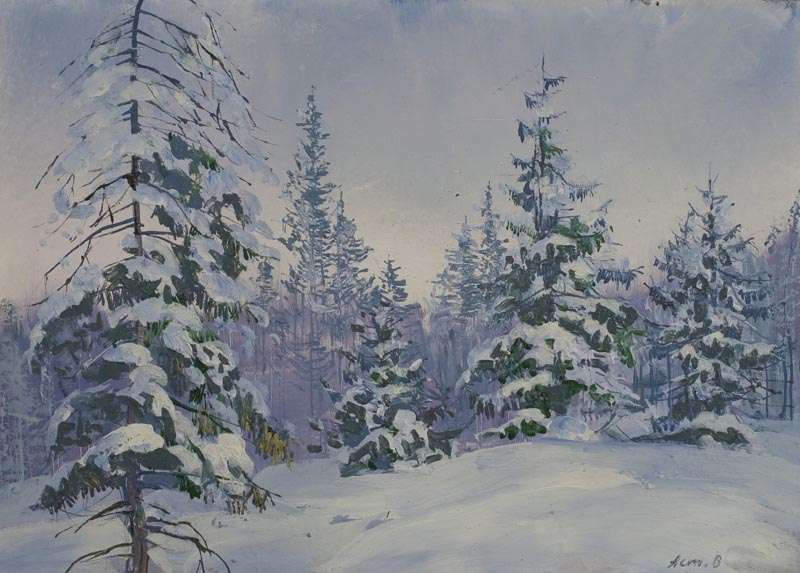Картинки зимний пейзаж карандашом