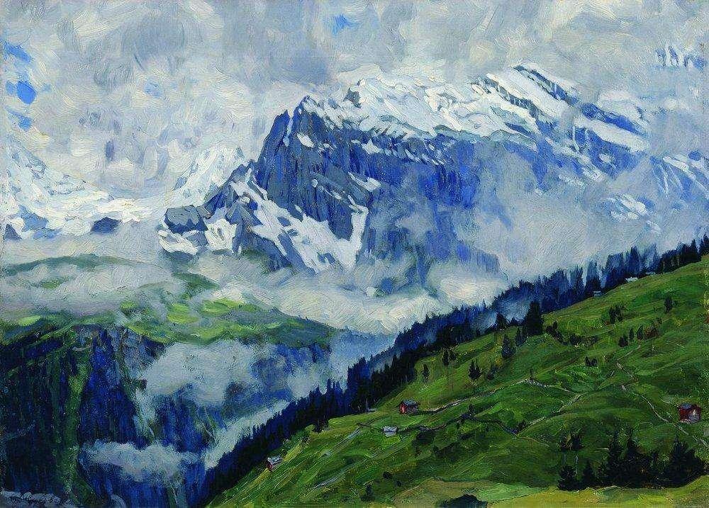 Горный пейзаж 1914 жуковский