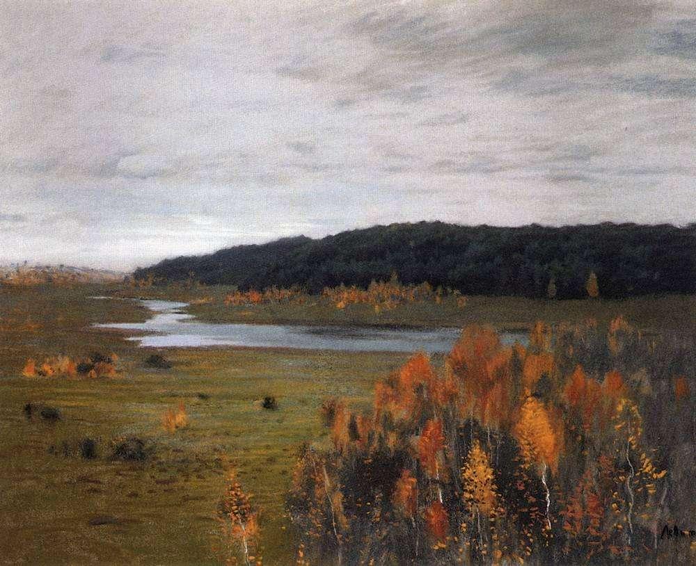 Осень долина реки 1896 левитан исаак