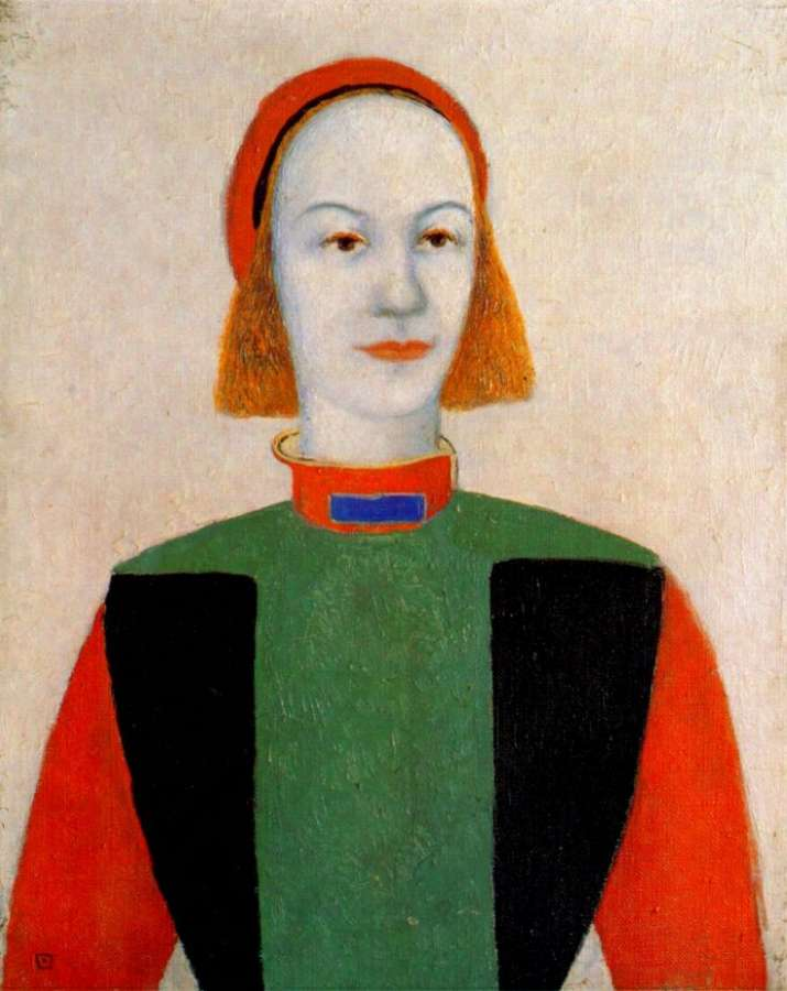 malevich_head_of_a_young_girl_of_today_1932 - Малевич Казимир Северинович