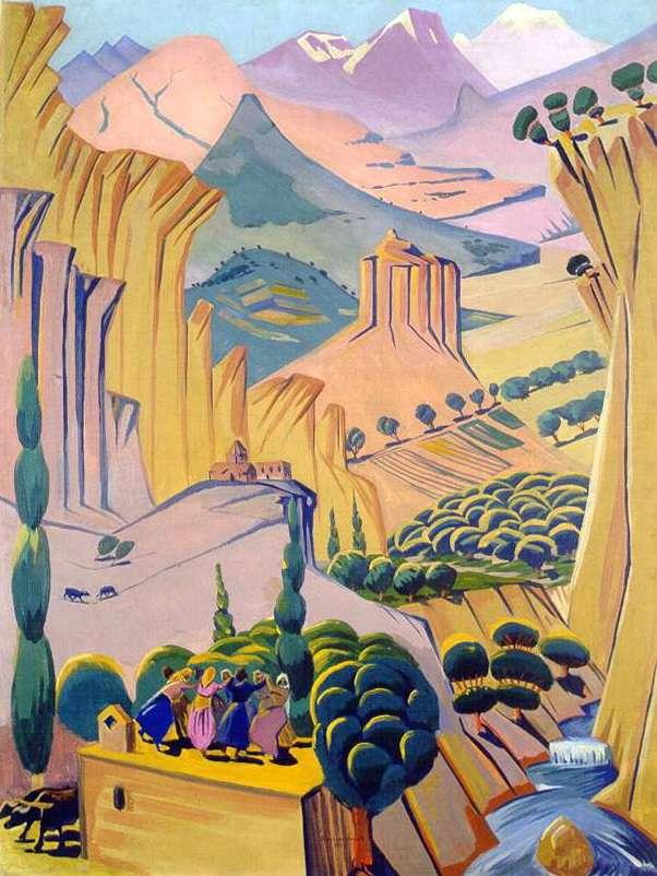1923 Армения. Х., м. 138х103 Ереван - Сарьян Мартирос Сергеевич