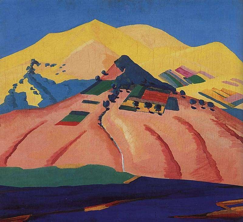1923 Солнечный пейзаж. Холст, масло. 70x78 НГ, Ереван - Сарьян Мартирос Сергеевич