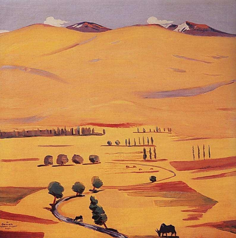 1926 Гегамские горы. Х., м. 70х70 МС - Сарьян Мартирос Сергеевич