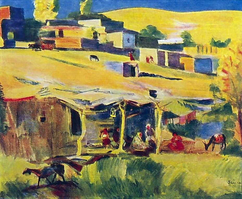 1932 Посёлок. Казахская Государственная художественная галерея - Сарьян Мартирос Сергеевич