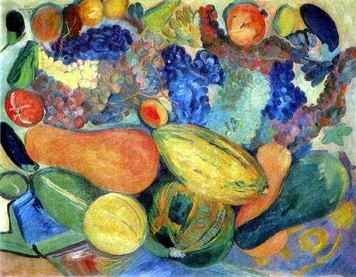 1933 Фрукты и овощи. Натюрморт. - Сарьян Мартирос Сергеевич