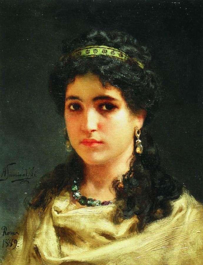 Портрет молодой римлянки. 1889 - Семирадский Генрих Ипполитович