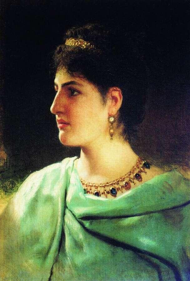 Портрет римлянки. 1890  - Семирадский Генрих Ипполитович