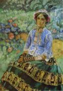 _lady_in_blue_dress_1905 - Борисов-Мусатов