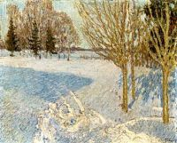 1901 Winter landscape. Oil on canvas. 57.8x71.1 - �������