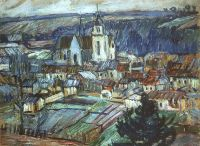 1908 Namur. France, 60x81,5 Private Collection, Moscow - Кончаловский